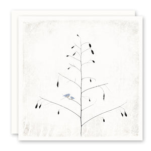 Bluebirds in Tree Print on Card - Sympathy, Thinking of You, Encouragement Card