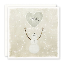 Load image into Gallery viewer, SNOWMAN 'LOVE' HOLIDAY CARD