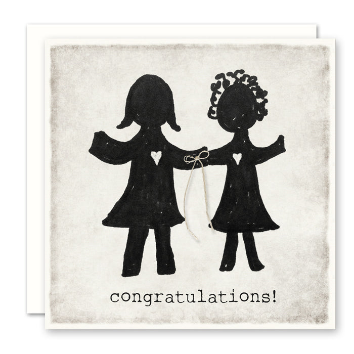 Congratulations (girl/girl) Wedding Card