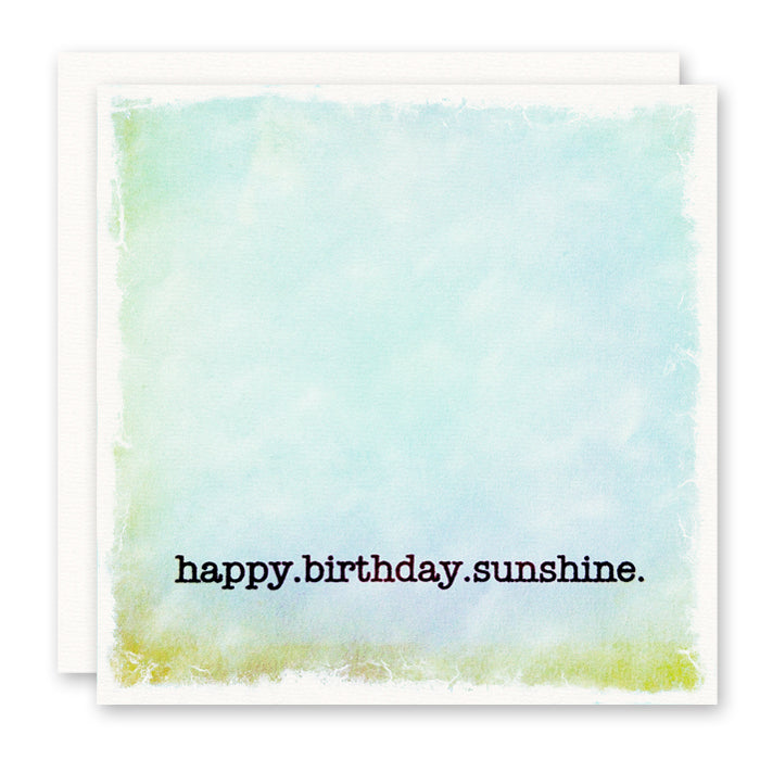 happy birthday sunshine birthday card for friend