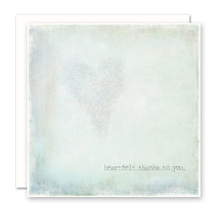 Heartfelt Thanks To You Thank You Card, Aqua, Square, Blank