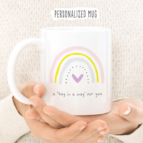 Hug In A Mug - Pastel Rainbow