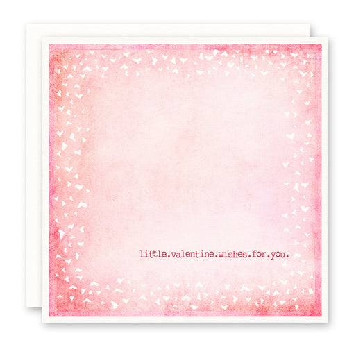 Pink Valentine Card - Little Valentine Wishes For You