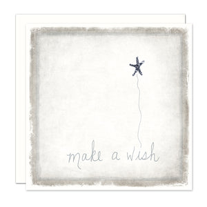 Birthday Card - Make A Wish with a indigo shimmery star
