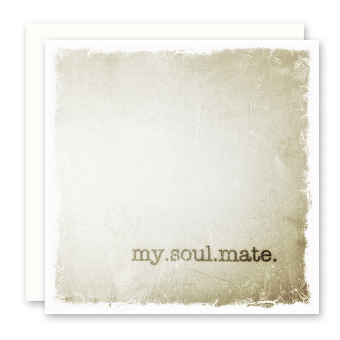 MY SOUL MATE LOVE CARD blank inside