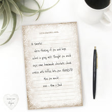 Load image into Gallery viewer, susan kay case heart love inspired quote lined stationery