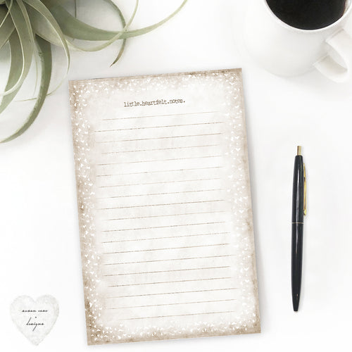 love quote pad stationery heart notes neutral tone white hearts lined paper - susan case designs