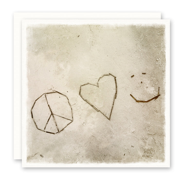 PEACE, LOVE, HAPPINESS CARD - BEACH THEME