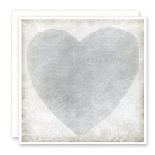 Load image into Gallery viewer, Love card watercolor grey heart