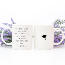 Load image into Gallery viewer, graduation gift for woman, girl, ceramic mug