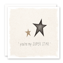 Load image into Gallery viewer, you're my superstar greeting card with glitter