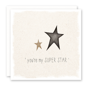 you're my superstar greeting card with glitter