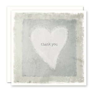 Thank You Card with the words 'thank you' inside a heart shape