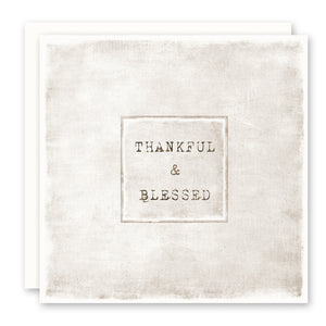 Thankful and Blessed Card