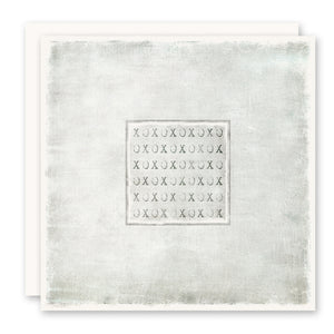 xo greeting card, square, blank inside