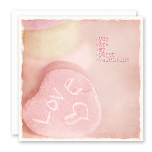 VALENTINE'S DAY CARD - you are my sweet valentine, blank inside