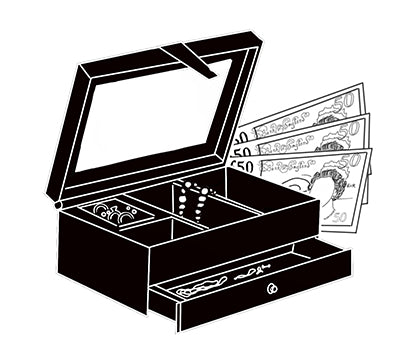 Gold and jewellery buying services, cash paid