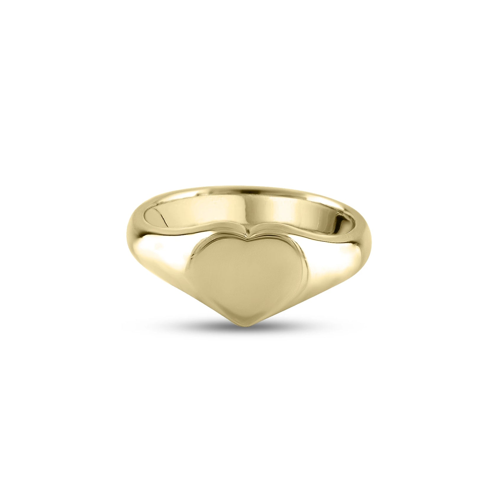 9ct Yellow Gold 9 x 9mm Heart Signet Ring