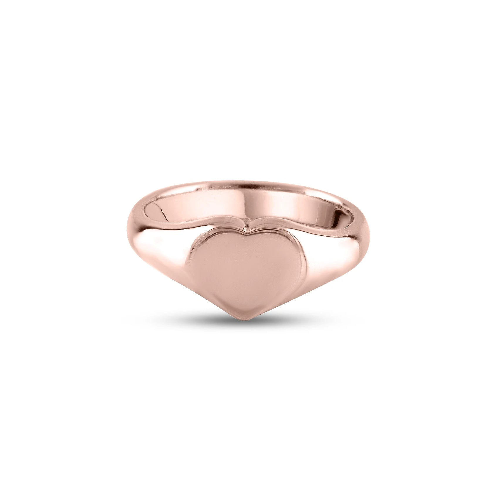 9ct Rose Gold 9 x 9mm Heart Signet Ring