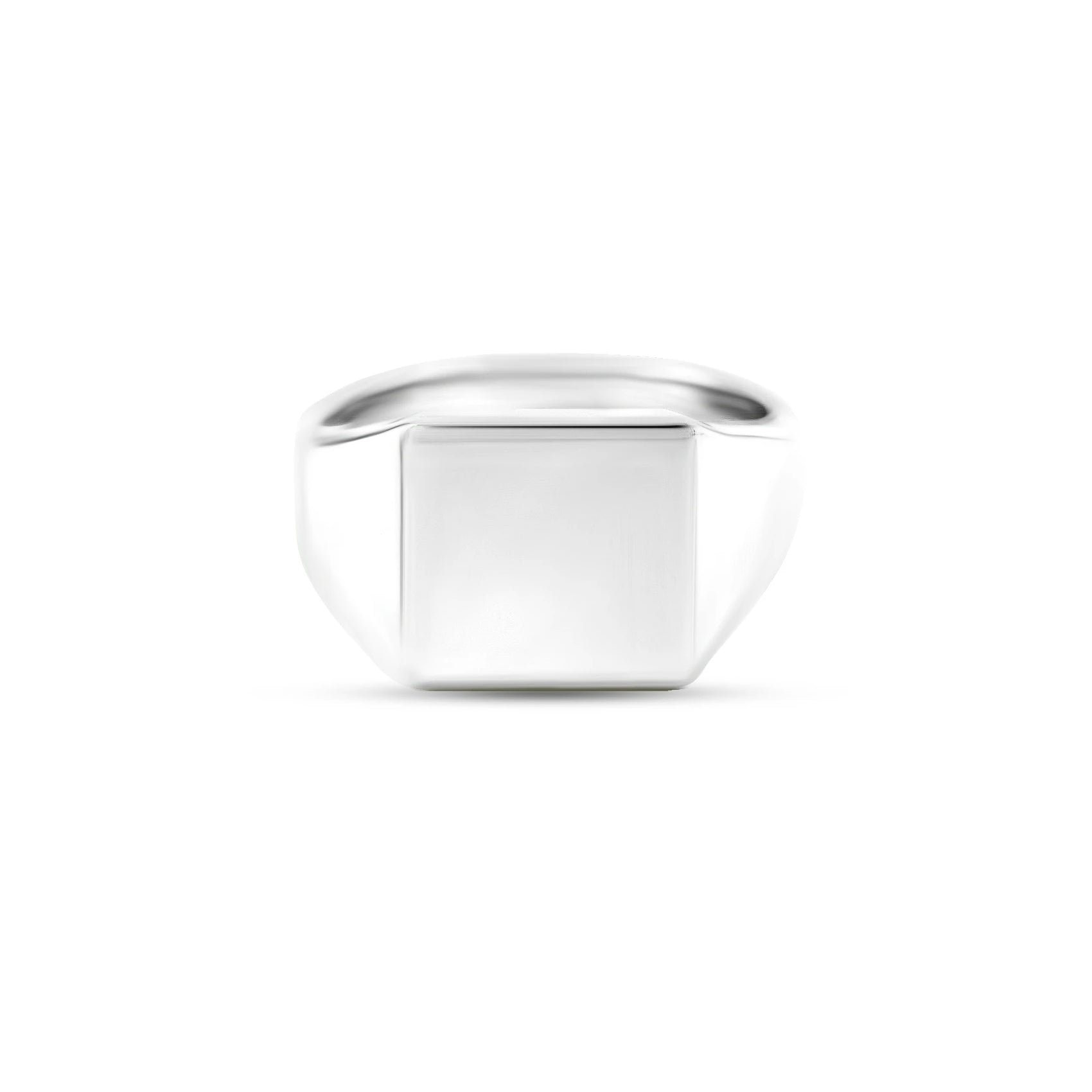 Silver 12 x 12mm Square Signet Ring