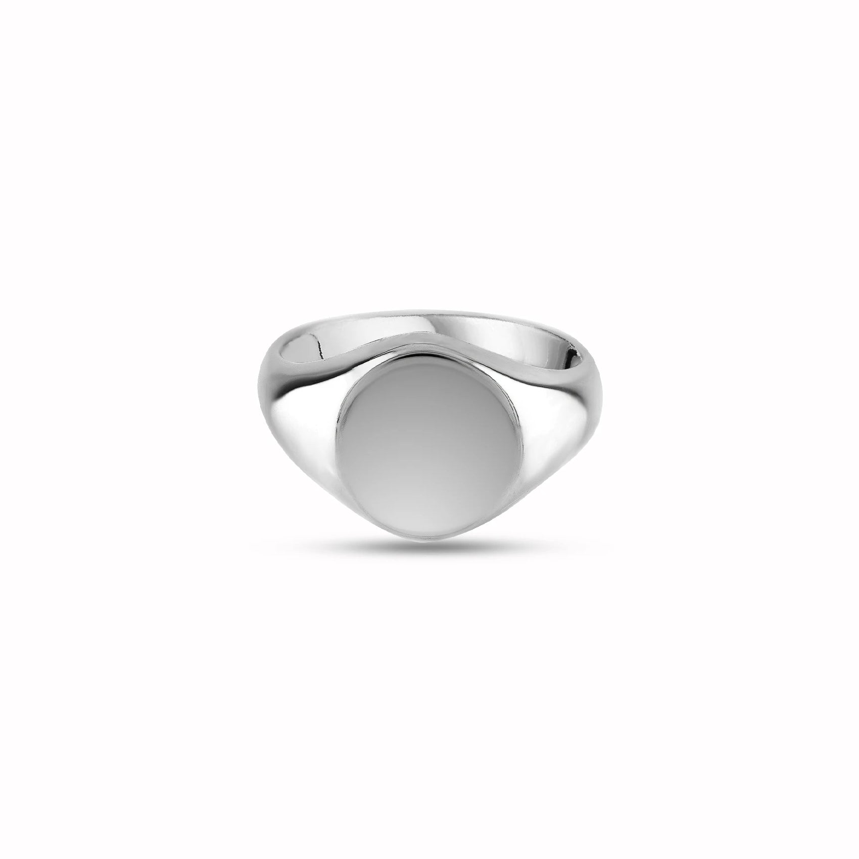 Silver 11mm Round Signet Ring
