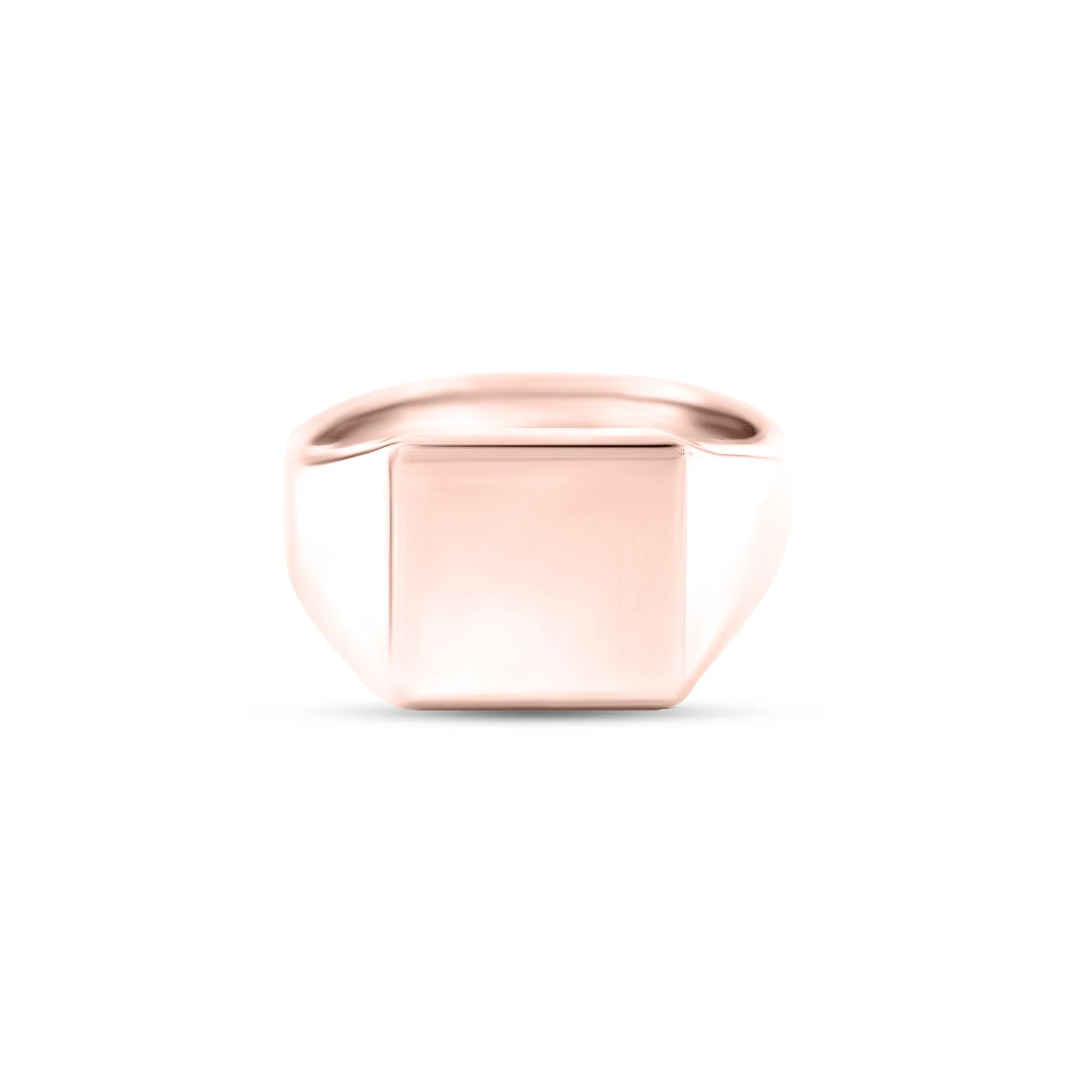 9ct Rose Gold 12 x 12mm Square Signet Ring