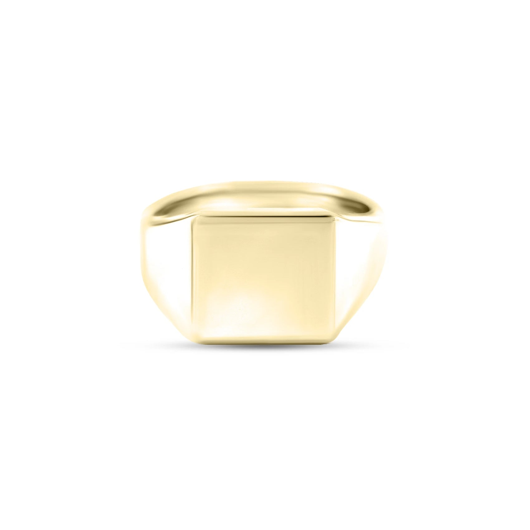9ct Yellow Gold 12 x 12mm Square Signet Ring