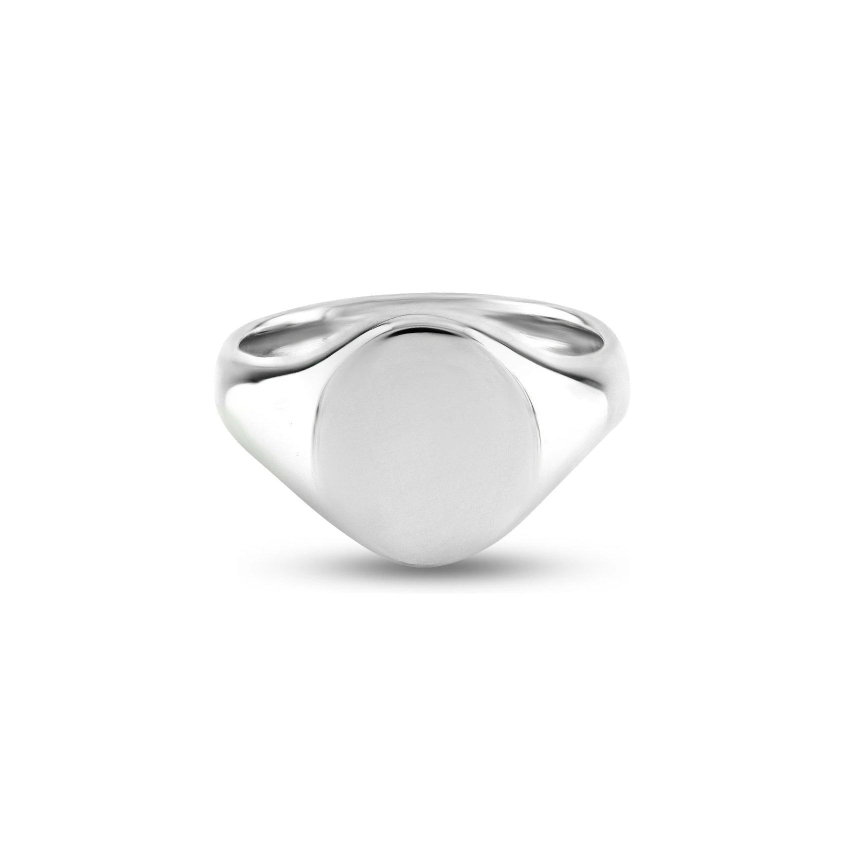 Silver 13 x 11mm Oval Signet Ring