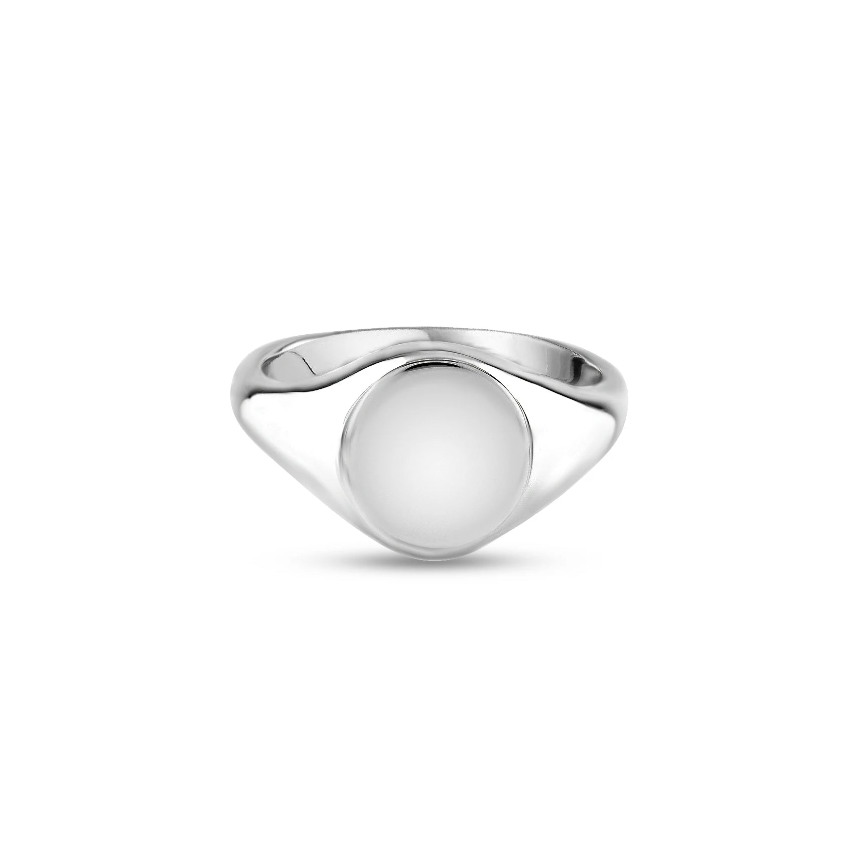Silver 11 x 9mm Oval Signet Ring
