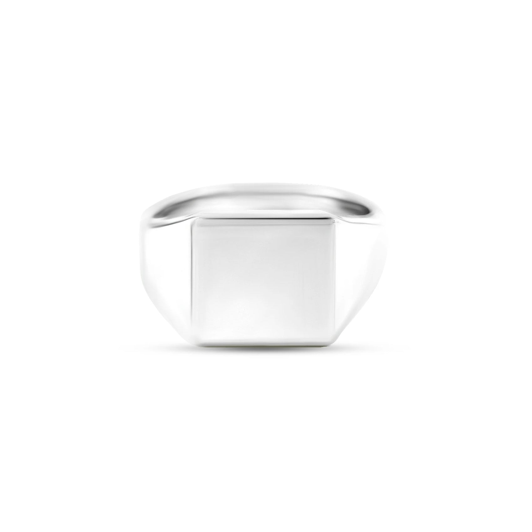 9ct White Gold 12 x 12mm Square Signet Ring