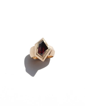 Garnet Shield Ring
