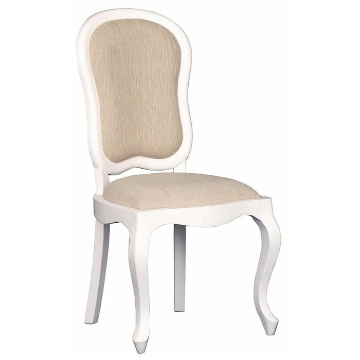 Paris House French Chair Queen Annie Solid Timber Dining Chair - White CFS168CH-54-56-QA-DC-WH