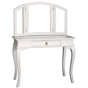 Paris House Queen Annie French Vanity Desk Solid Timber Dressing Table - White CFS168ST-001-MR-QA-WH_1