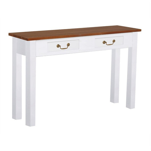 Raffles French Console Table Tas Timber 2 Drawer 120cm Sofa Table, Scandinavia White Writing Desk CFS168ST-002-KL-WR_1