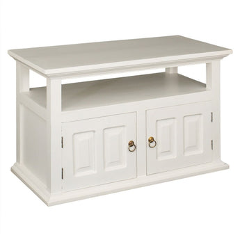 Tas French TV Console Stand 2 Door 97cm TV Unit, Wood Timber White CFS168TV-200-PN-WH_1