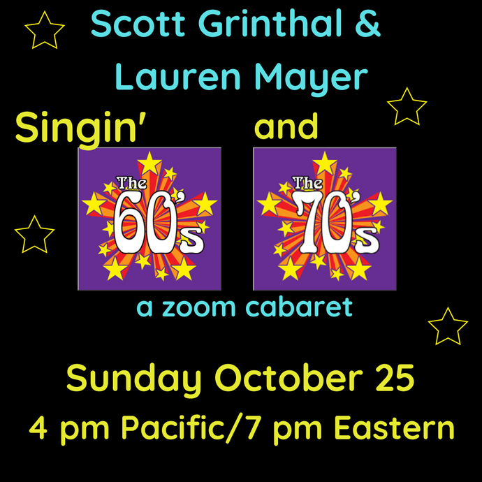 Singing' The '60s & '70s Zoom Concert - donor ticket