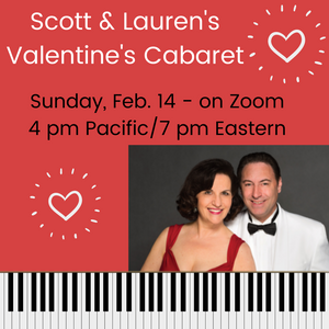 Valentine's Zoom Cabaret  - - - -  Donor ticket