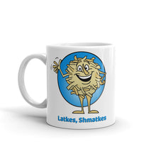 Load image into Gallery viewer, Latkes, Shmatkes mug