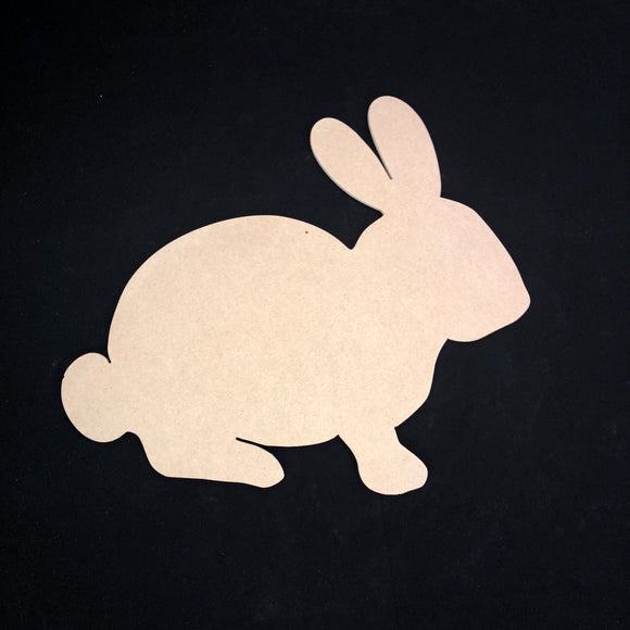 Rabbit Cutout Wood, Door Hanger Wooden Blank