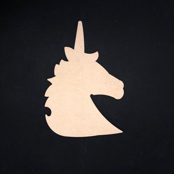 Unicorn Head Wooden Cutout Wood, Door Hanger Wooden Blank