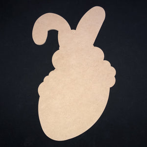 Bunny holding Easter Egg Wooden Cutout Wood, Door Hanger Wooden Blank
