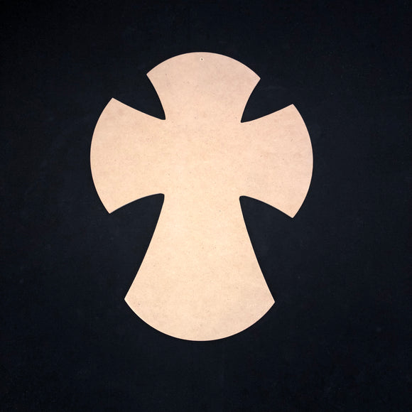 Cross with rounded edges ,Wooden Cutout Wood, Door Hanger Wooden Blank