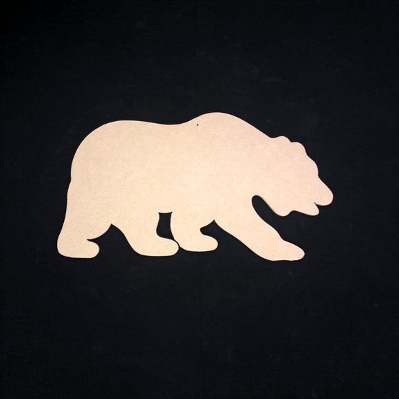 Grizzly Bear ,Wooden Cutout Wood, Door Hanger Wooden Blank