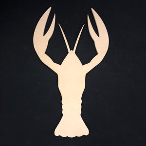 Lobster Wooden Cutout Wood, Door Hanger Wooden Blank