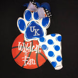 Basketball Collage Door Hanger, College Sports Highscool Team Home Decor, Customizable