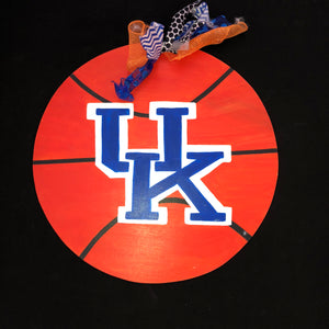 Basketball Door Hanger, College Sports Highscool Team Home Decor, Customizable