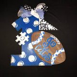 Football Collage Door Hanger, College Sports Highscool Team Home Decor, Customizable