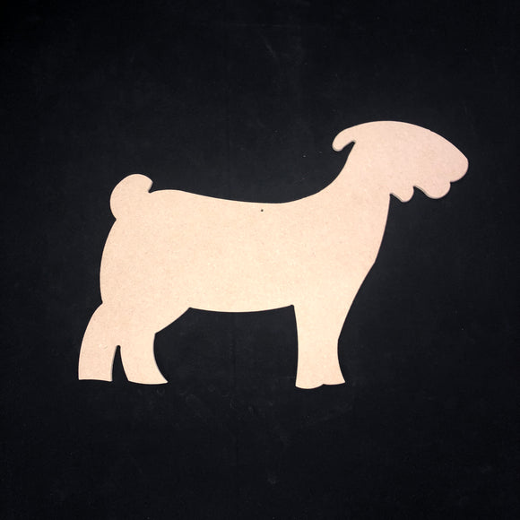 Goat Wooden Cutout Wood, Door Hanger Wooden Blank