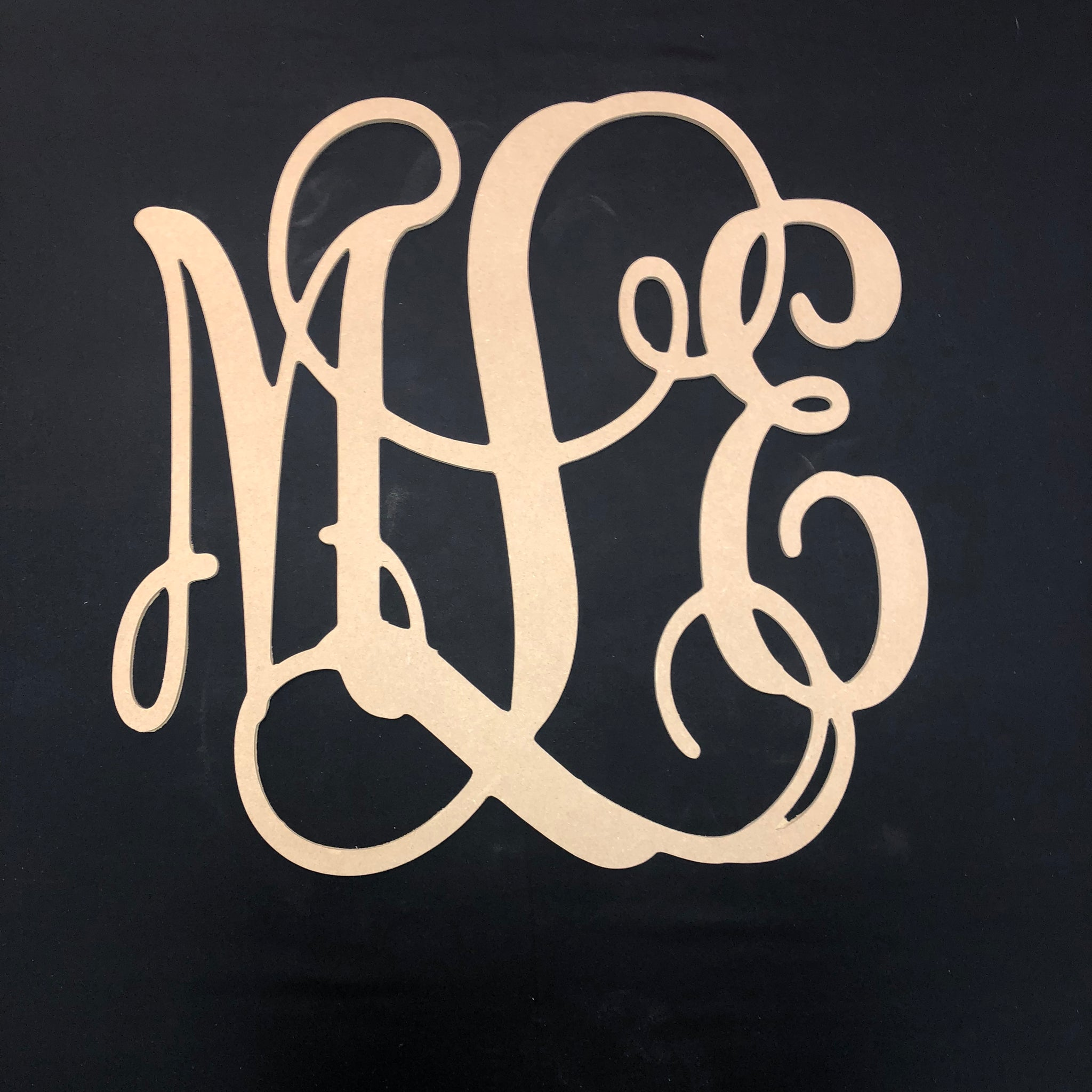 3 Letter Vine Monogram, Dorm Room, Monogram Decor ...