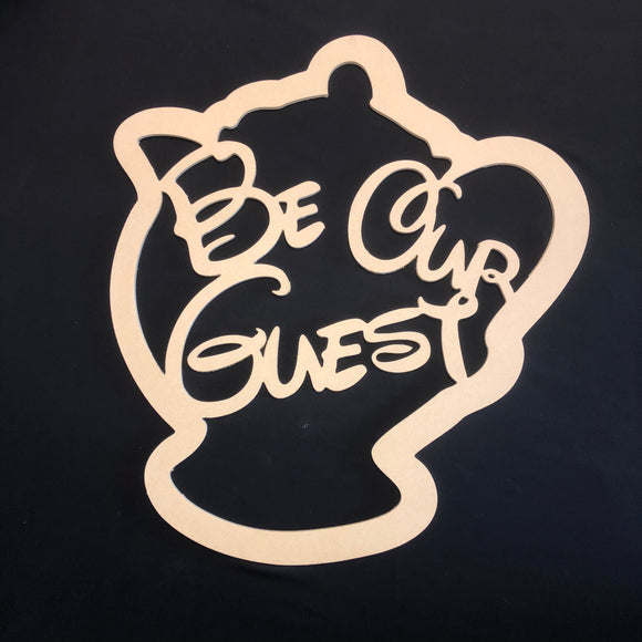Be Our Guest Craft Cutout Wooden Door Hanger Unfinished Craft Shape